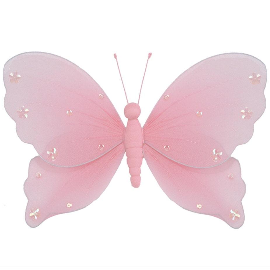 Papillon accroch des d corations en nylon papillons nylon for Papillon decoration