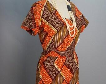 Sale 1980s jumpsuit 80s cotton pantsuit Vintage jumpsuit 80s one piece batik print jumpsuit