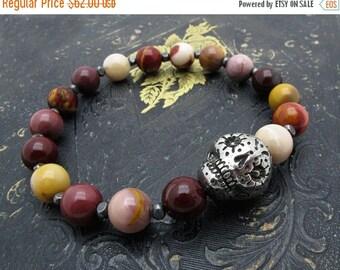 sugar skull bracelet, skull jewelry, beaded bracelet, stacking bracelet, sugar skull jewelry, day of the dead bracelet, gift for her, wine