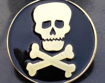 Vintage KISS Skull Enamel Pin by Print Mafia®