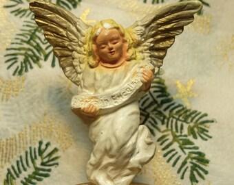 Vintage Angel Plaster Creche Figure Nativity