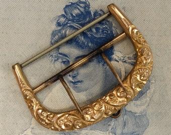 Vintage Victorian Gold Metal Buckle Supply