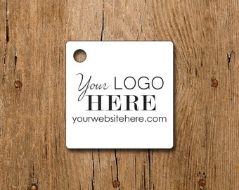 """180 tags - 1.5"""" - Square Customized Small Price Tags Jewelry Hang Tags Labels"""