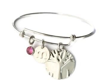 Birthday Gift For BFF  Family-Tree-Bracelet Christmas Gift for BFF Birthday Gift For Sis   Sterling Silver  