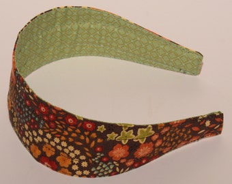 REVERSIBLE Sonnet Mimosa in Chocolate Comfort Fit Fabric Headband