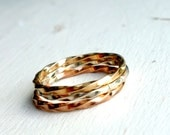 Twisted Bands- Simple Stacking Twisted Square Wire Bands Rings