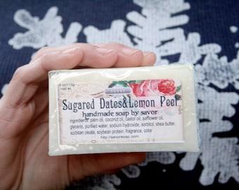 Shea Butter Soap Sugared Dates & Lemon Vegan Bar Soap
