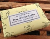 Lemon Eucalyptus maple syrup vegan soap