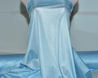 "Nylon Tricot stretch fabric 40 denier. M.Blue  . . lingerie, slips, panties, wedding, decor, bridal, crafts 108"" wide 100% nylon"
