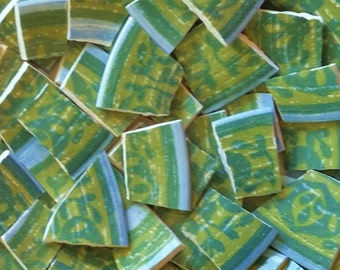 Mosaic Tiles-Bohemian Vintage Blue Green- 95 Tiles