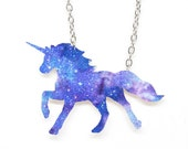 RESERVED for Trina Zabel - Galaxy Unicorn Necklace
