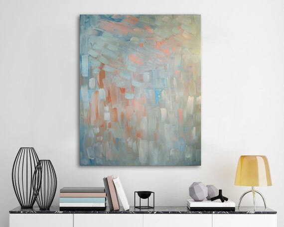 "original painting, oil, painting, mid century modern, wall art, abstract, large art, large wall art, white, gray - ""Arrivals and Departures"""