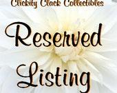 Reserved Listing for Shel: Bean Pots, Custom Cutouts