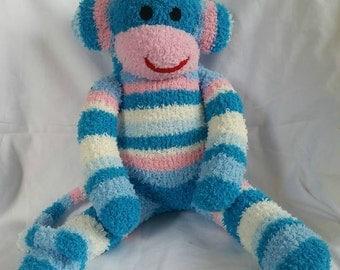 Cassafras the sock monkey ready to ship