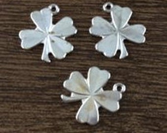 G3 shamrock charms metal clover Saint Patrick's Day   jewelry findings   quantity 12 jewelry supplies