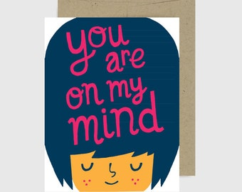 Sympathy Card - You Are On My Mind