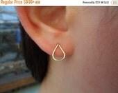 ON-SALE Stud Earrings - Teardrop Gold Earrings, Gold Stud Earrings, Post Earrings, 14K Gold-fill Earrings