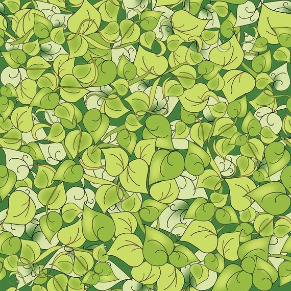 Fat Quarter - Spring Leaves