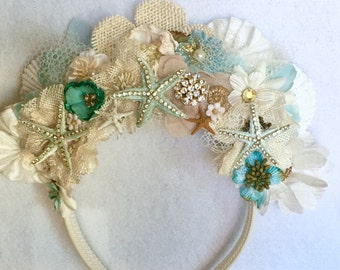 Queen of the Sea Starfish Floral Crown Headband