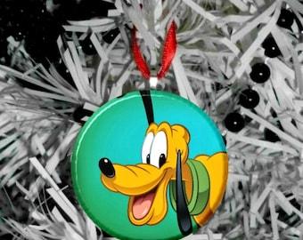 Disney Pluto the Dog Personalize Option Christmas Tree Ornament