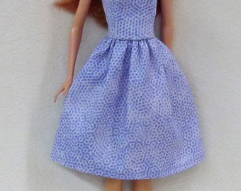 "Lavendar 11.5"" Fashion Doll dress with shoes"