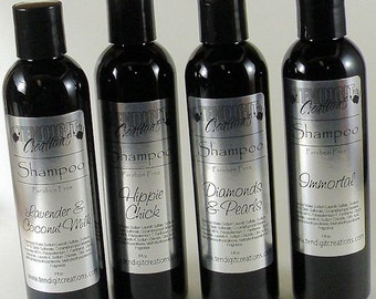 8oz Shampoo (Scents Su - V) - earthy, fruity, floral, bakery, citrus, hippie, berry, woodsy, sweet, fall, winter, summer