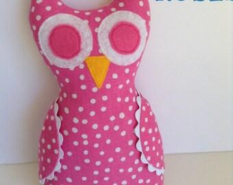 Pink Polka Dot Owl
