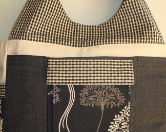 Large Carryall Tote-QUEEN ANNE'S LACE