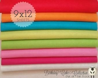 Birthday Cake Felt Collection, Wool Blend Felt, Wool Felt Sheets, Wool Felt Fabric, Felt Fabric Bundles, Wool Felt Bundles, Felt Collections