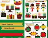 50% OFF SALE Happy Kwanzaa clip art bundle / Kwanzaa holiday clip art / digital images / commercial use clipart / instant download