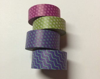 Washi tape 4 pack 10 yards each Pink Purple Green Blue