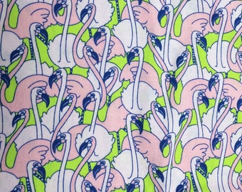 Pink flamingo fabric 26 inches x 40 inches