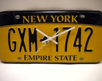New York  License Plate Clock