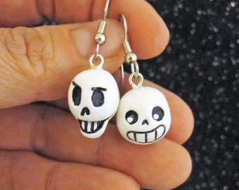 Sans and Papyrus Undertale Earrings