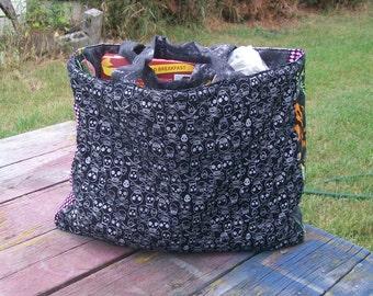 Skulls Tote Bag Reusable Grocery Bag Ready To ship