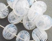 DSG-Debbie Sanders Glass Handmade Lampwork Beads (Made To Order) Snow Balls