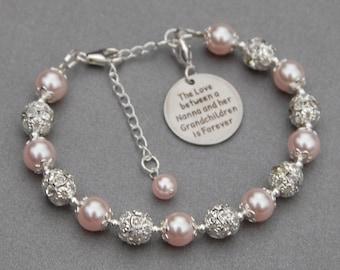 Nanna Grandchildren Gift, Nanna GranddaughterJewelry, Nana's Love, Nana Gift, Granddaughter Gift, Phrase Jewelry, Under 30