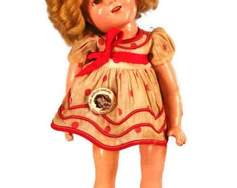 16 Ideal Compo Shirley Temple doll, 1930's Ideal Doll, Antique Doll, Shirley Temple, Vintage Doll, Antique Doll