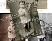 Girl with  Keys Antique Real Photo 3 Versions Instant Download Page