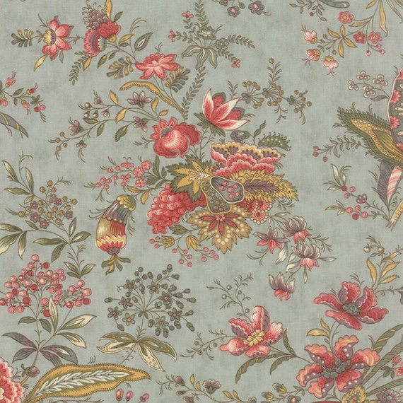 Hyde park half yard floral large scale print rose hips for Garden party fabric by blackbird designs