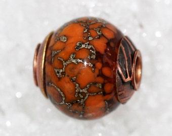 Handmade large hole copper cored bracelet bead by joycelo