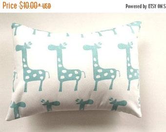 ENDING SOON Navy Pink Green Blue Pastel Giraffe Nursery Decor/Baby Nursery/Pillow Covers/Pastel Nursery Pillow/Baby Boy Girl Nursery Decor/S