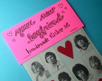 your new boyfriend handmade sticker set