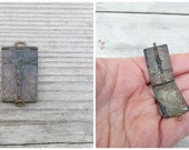 Vintage Antique 1900/1930 French Jesus locket / silvered metal  pendant