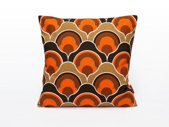 Orange Mid Century Modern Pillow Cover Retro Cushion Cover