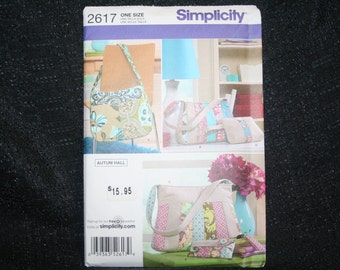 New, Uncut Simplicity 2617 Purse Bags Sewing Pattern SEWBUSY12