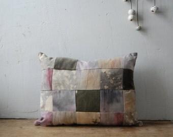 FOLK hand-dyed patchwork cushion with kapok no. 3
