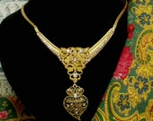 Heart of Viana Portuguese filigree rhinestones necklace