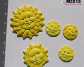 4 of July Sale 10% Suns  - Kiln Fired Hand Paint Handmade Tiles for your Mosaic Designs M3215
