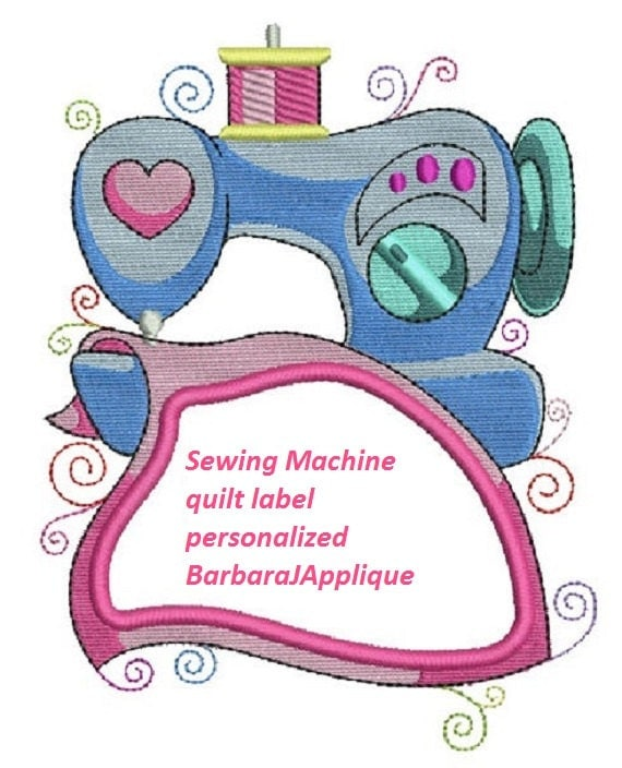 Sewing Machine Quilt Label Machine Embroidered